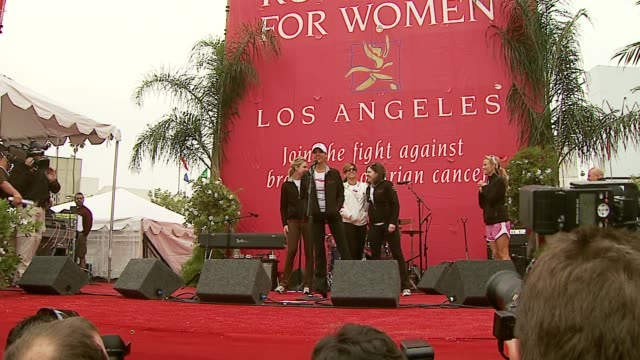 beau garrett, jessica alba and eva mendes at the revlon run/walk for women celebration of 14 years in los angeles at the los angeles memorial... - revlon stock videos & royalty-free footage