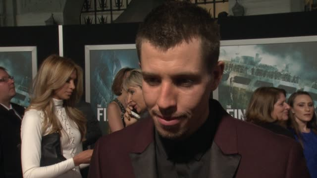 interview beau knapp on what it means to have his movie premiere at such an iconic theater on if he's excited to see it in imax on what percentage of... - tcl chinese theater stock-videos und b-roll-filmmaterial