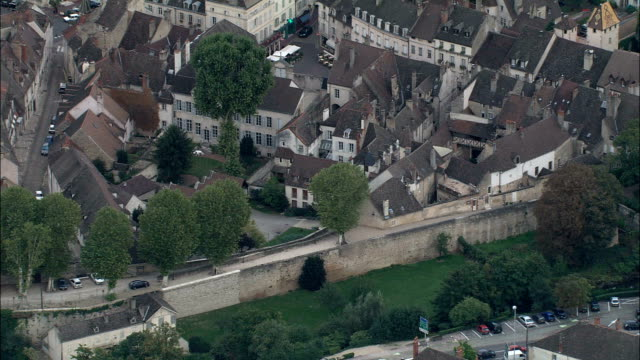 beaune  - aerial view - bourgogne, cote d'or, arrondissement de beaune, france - sports period stock videos & royalty-free footage