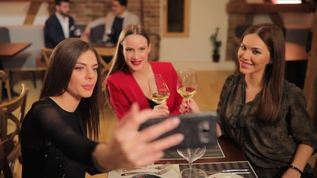 beauties taking selfie - foodie stock videos & royalty-free footage