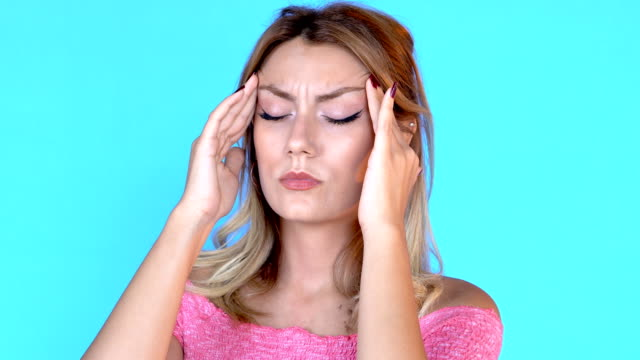 4k beautiful adult patient concept, headache - head massage stock videos and b-roll footage