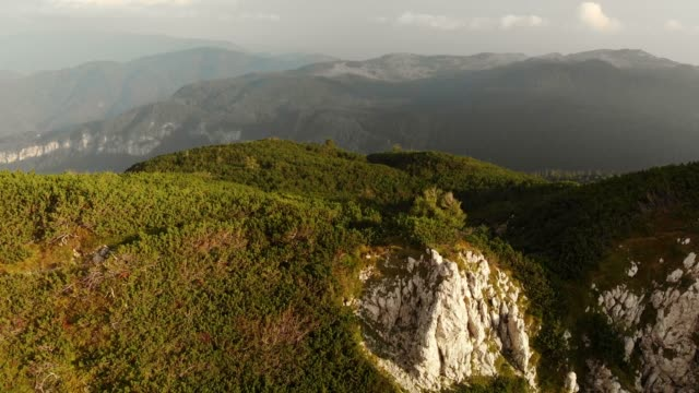 beautiful aerial views of scenic nature - slovenia stock videos & royalty-free footage