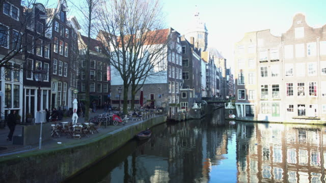 beautiful amsterdam street - silvestre stock videos & royalty-free footage