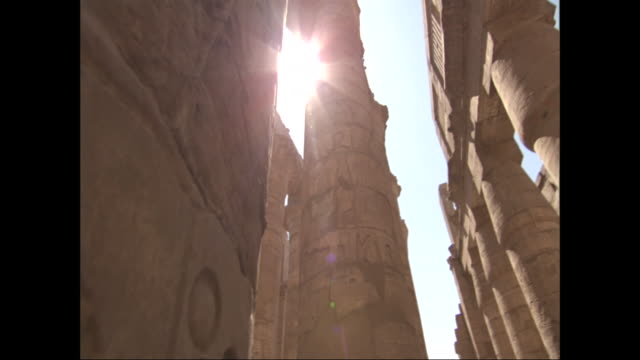 beautiful ancient pillars still stand in egypt. - astronomy stock videos & royalty-free footage