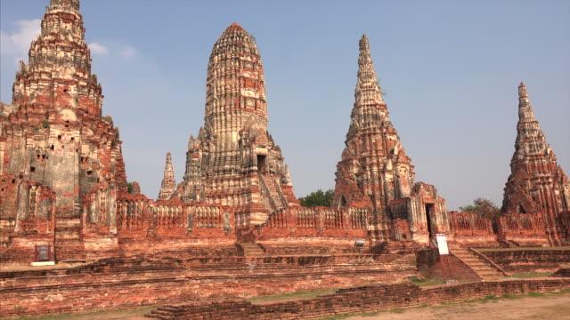 Beautiful ancient temple ruins of Wat Mahathat in Ayutthaya, Thailand