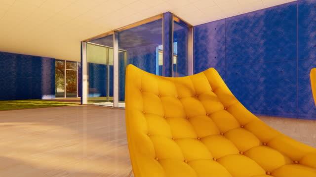 schönes und großes interieur - sessel stock-videos und b-roll-filmmaterial