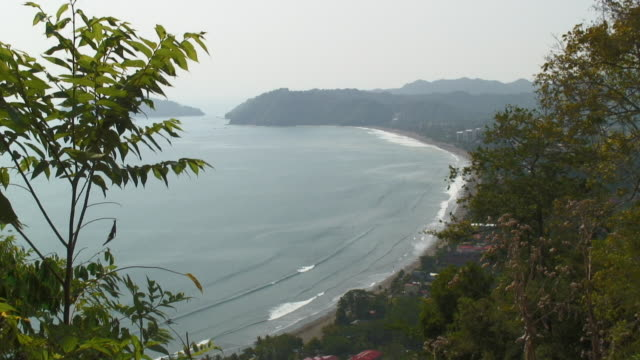beautiful and wild beach in jaco costa rica  - costa rica stock videos and b-roll footage