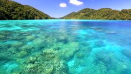 Beautiful andaman sea at Surin National Park snorkeling point Thailand