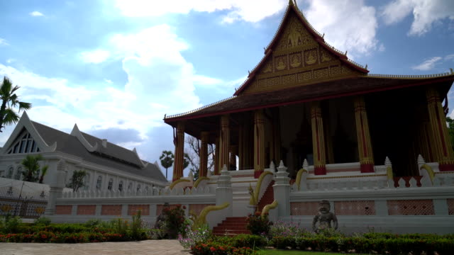 Beautiful Architecture at Haw Phra Kaew Temple in Laos