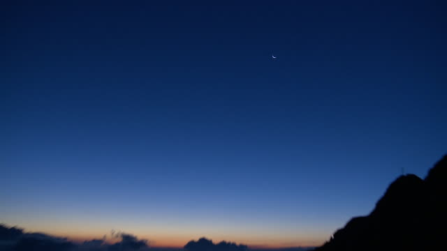hd: beautiful atmosphere before sunrise - dachstein mountains stock videos and b-roll footage