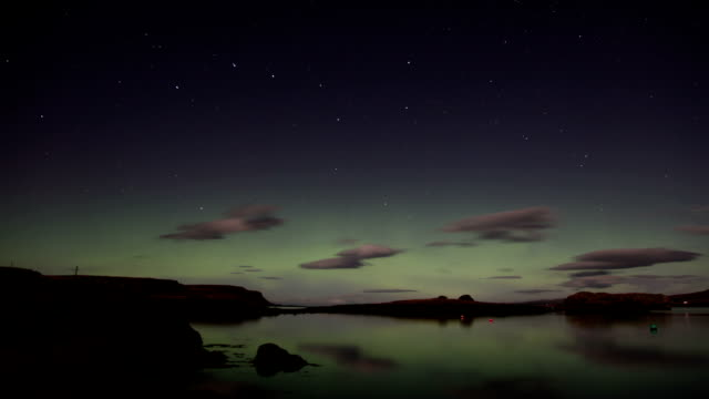 Beautiful Aurora Borealis. Time Lapse.