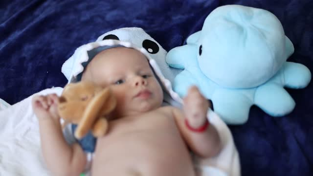 美しい男の子 - 男の赤ちゃん一人点の映像素材/bロール