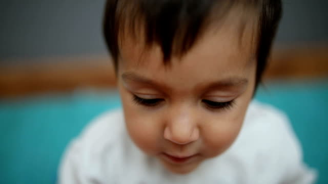 beautiful baby boy - babies only stock videos & royalty-free footage
