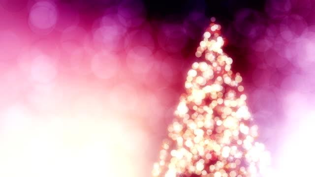 Schönen Hintergrund mit Weihnachtsbaum loop