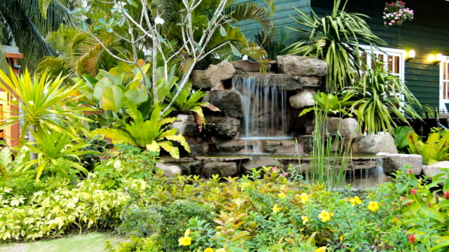 beautiful backyard - standing water in yard stock videos & royalty-free footage