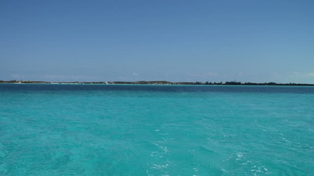 beautiful bahamas as seen from a catamaran - bahamas stock videos and b-roll footage