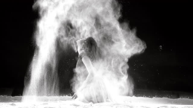 beautiful ballerina dancing in powder snow - fantasy stock videos & royalty-free footage