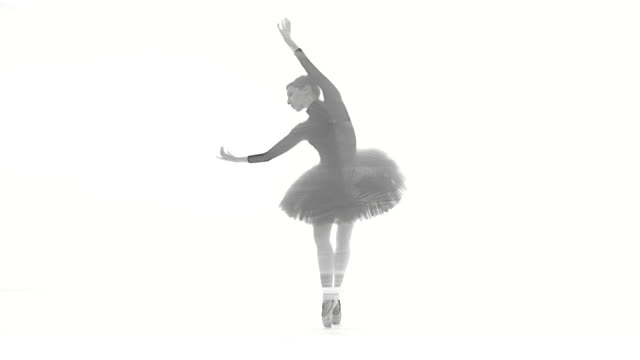 beautiful ballerina dancing in the dream world - ballet dancer stock videos & royalty-free footage