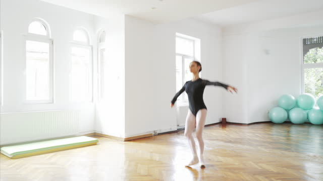 beautiful ballerina dancing. - posture stock videos and b-roll footage