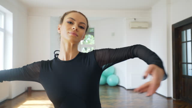 beautiful ballerina dancing. - ballet dancer stock videos & royalty-free footage