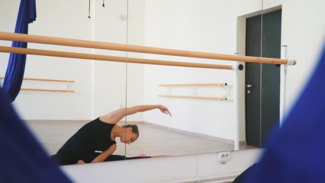 beautiful ballerina practicing. - ballet studio stock videos & royalty-free footage