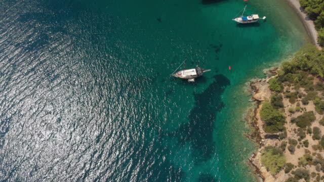 a beautiful bay in aegean sea, turkey - scenics stock videos & royalty-free footage