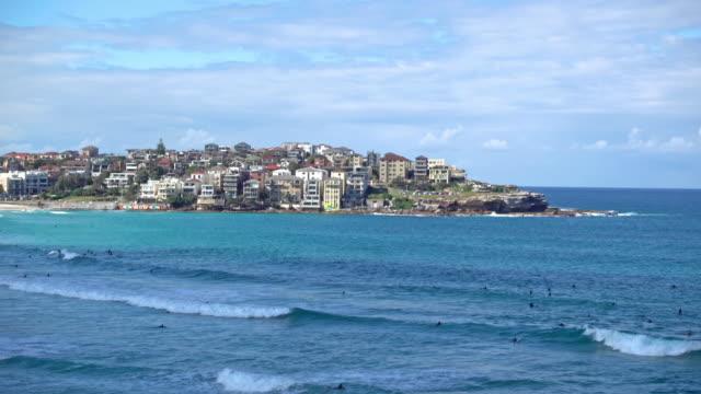 beautiful beach bondi beach in sydney, australia - lockdown stock videos & royalty-free footage