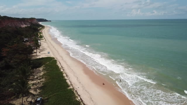 beautiful beach in bahia, northeast brazil - porto seguro stock videos & royalty-free footage