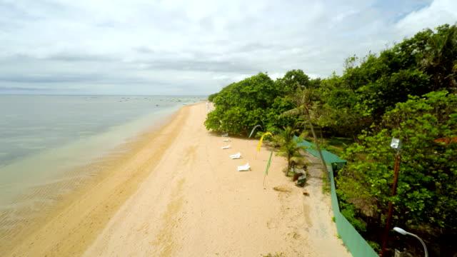 AERIAL Beautiful Beach In Bali