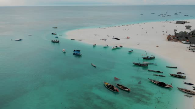 beautiful beach of zanzibar, africa - zanzibar archipelago stock videos & royalty-free footage