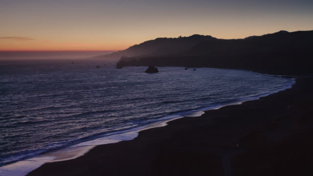 Beautiful Beach on Sonoma Coast at Sunset
