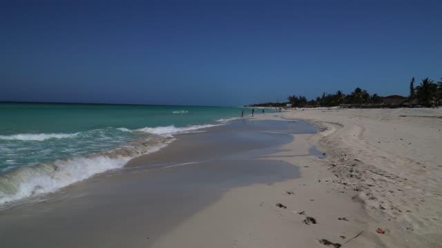 Beautiful Beach over Caribbean sea
