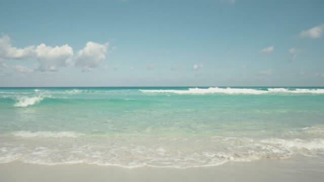 beautiful beach over caribbean sea - horizon over water stock videos & royalty-free footage