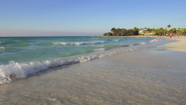 beautiful beach over caribbean sea - varadero stock videos and b-roll footage