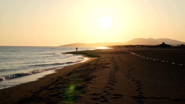 beautiful beach - montenegro stock videos & royalty-free footage
