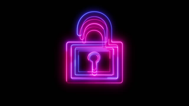 beautiful black background of padlock icon - guarding stock videos & royalty-free footage