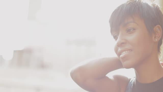 beautiful black woman slowmotion video portrait - video portrait stock videos & royalty-free footage