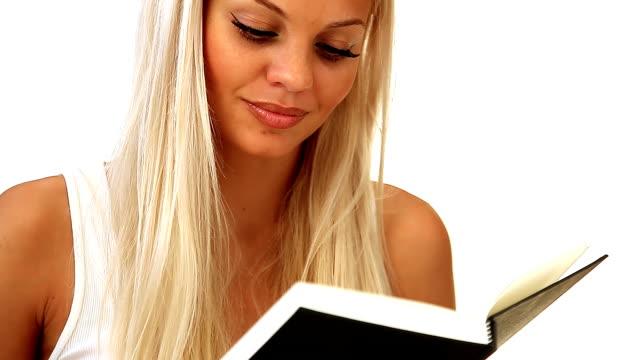 Schönes blonden lesen