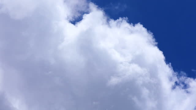 beautiful blue sky background with clouds, time lapse. - cumulus stock videos & royalty-free footage
