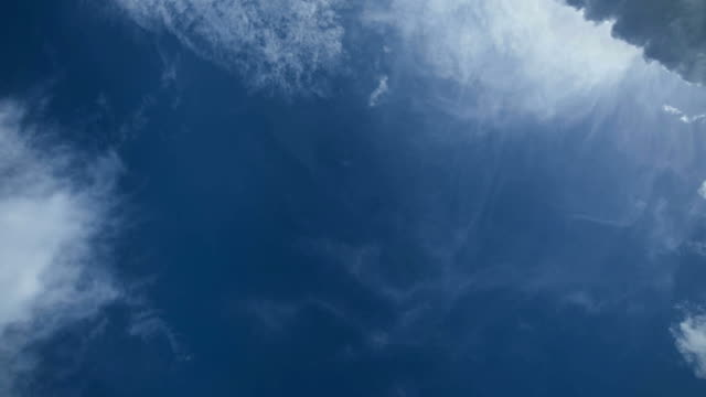 beautiful blue sky with clouds in motion time lapse - looking up stock videos & royalty-free footage