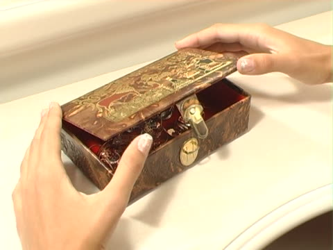 beautiful box with jewelry - jewelry box stock videos and b-roll footage