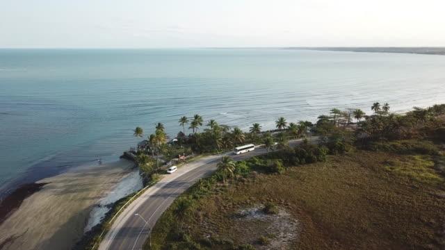 beautiful brazilian coast in bahia - porto seguro stock videos & royalty-free footage