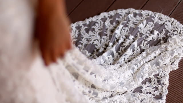 beautiful bride in a white dress - bride stock videos and b-roll footage