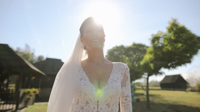 beautiful bride is ready for the wedding - geographical locations stock videos & royalty-free footage