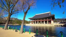 Beautiful Building architecture Gyeongbokgung palace in South Korea