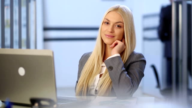 beautiful business woman - blonde hair stock videos & royalty-free footage