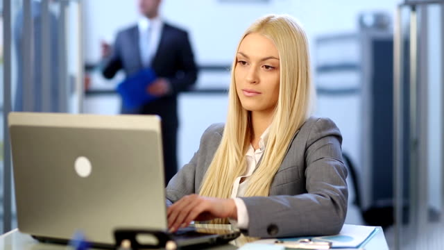 beautiful business woman - cheerful stock videos & royalty-free footage