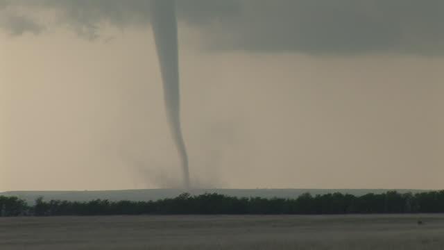 A beautiful but dangerous tornado seen near Arnett, Oklahoma. This tornado occurred on the same day a deadly tornado struck Greensburg, Kansas.