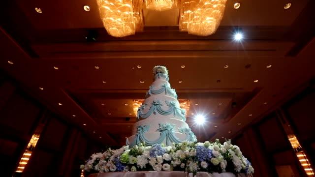 Beautiful Cake for wedding ceremony, Dolly Shoot HD VDO