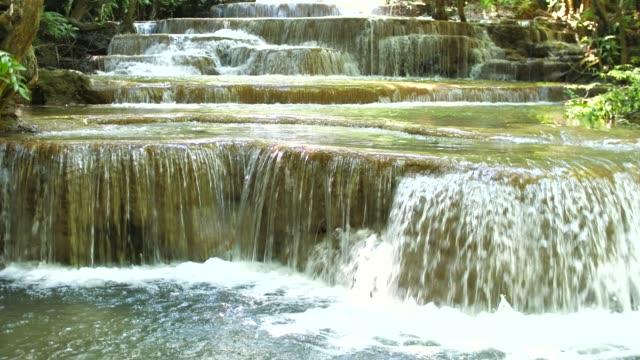 美麗的級聯瀑布和溪流, 清邁梅 khamin 瀑布, 泰國 - 自然奇觀 個影片檔及 b 捲影像